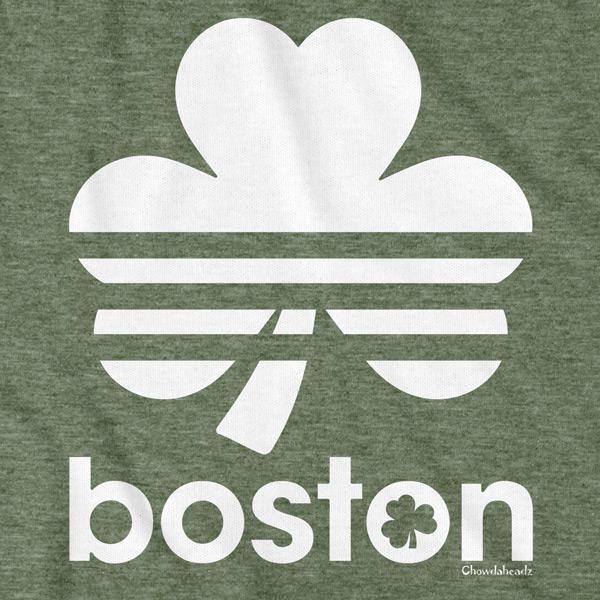 Boston Shamrock Retro T-Shirt - Chowdaheadz