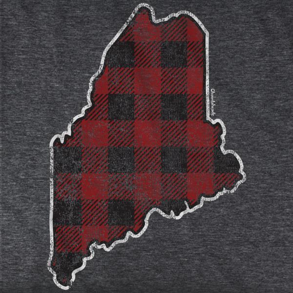 Buffalo Plaid Maine T-Shirt - Chowdaheadz