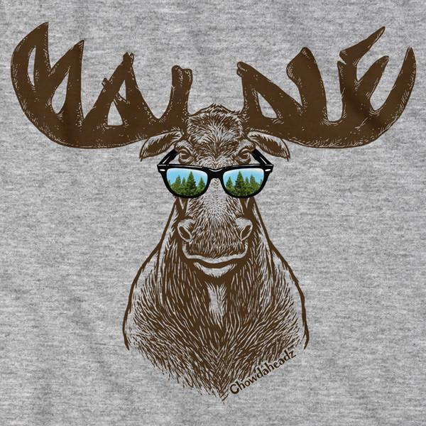 Cool Maine Moose T-Shirt - Chowdaheadz
