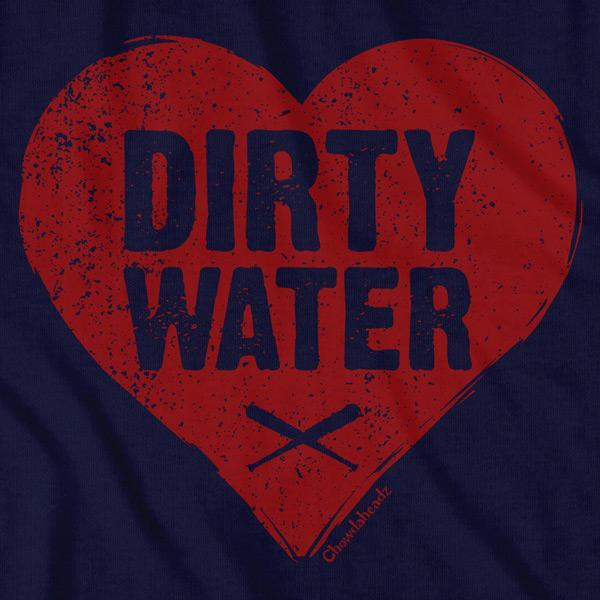 Dirty Water Baseball Heart T-Shirt - Chowdaheadz