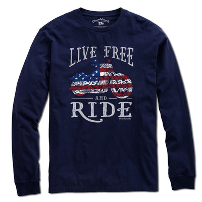 Live Free and Ride T-Shirt - Chowdaheadz