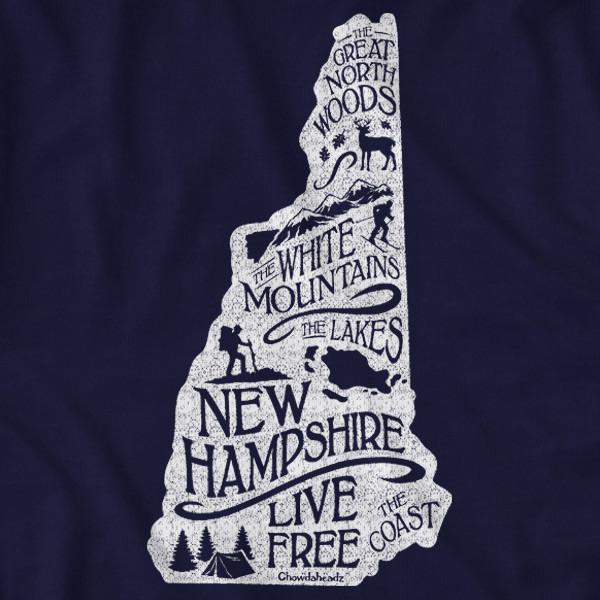Live Free New Hampshire State T-Shirt 1