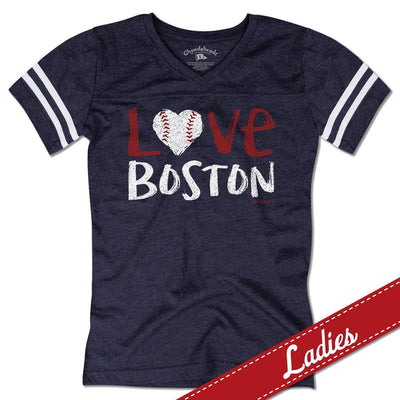 Love Boston Baseball Varsity T-Shirt - Chowdaheadz