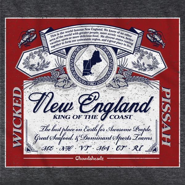 New England King of the Coast T-Shirt - Chowdaheadz