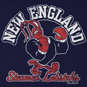 New England Steamed Lobstahs Mascot T-shirt - Chowdaheadz