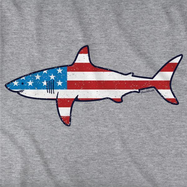Stars and Stripes Shark T-Shirt - Chowdaheadz