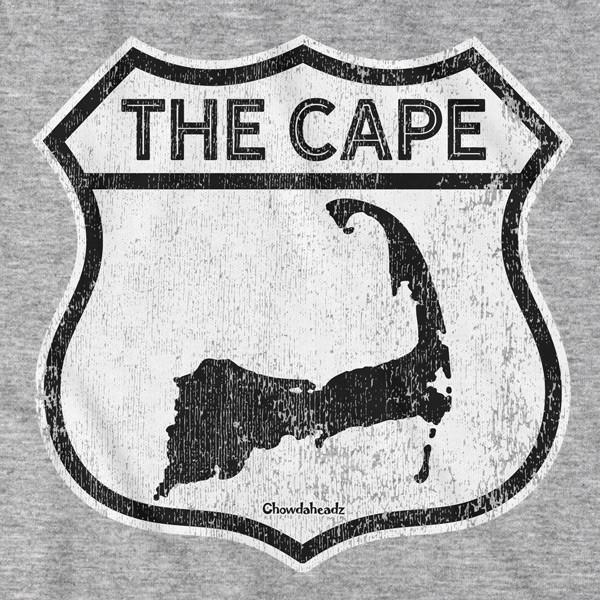 The Cape Highway Sign T-Shirt - Chowdaheadz