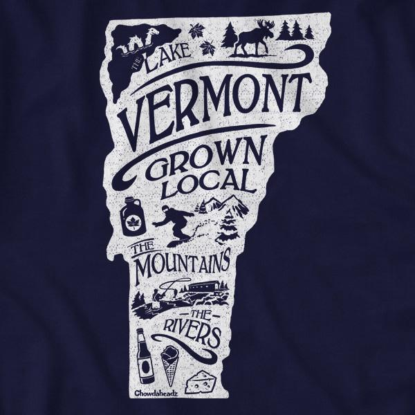 Vermont Grown Local T-Shirt - Chowdaheadz