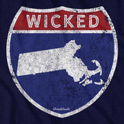 Wicked Massachusetts Highway Sign T-Shirt - Chowdaheadz