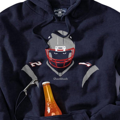 New England Angry Silhouette Tailgater Hoodie - Chowdaheadz
