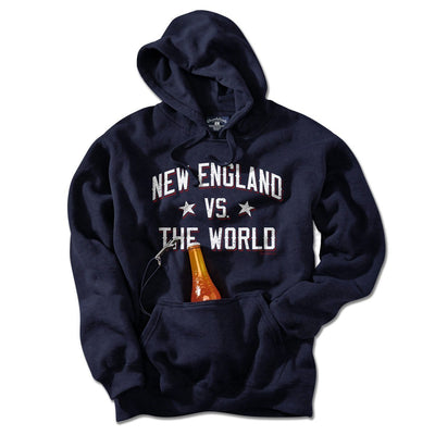 New England vs The World Tailgater Hoodie - Chowdaheadz