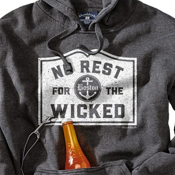 No Rest For The Wicked MA Tailgater Hoodie - Chowdaheadz
