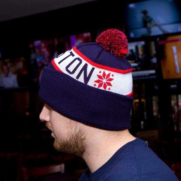 "Boston Baseball ""Classic Cuff"" Knit - Navy & Red - Chowdaheadz"