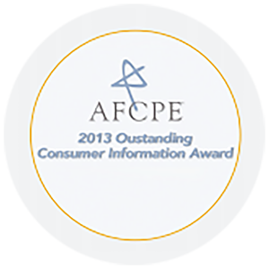 Outstanding Consumer Information Award 2013