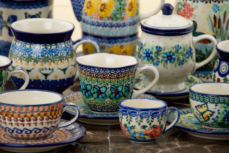 Polish Pottery Outlet Genuine Unikat Stoneware From