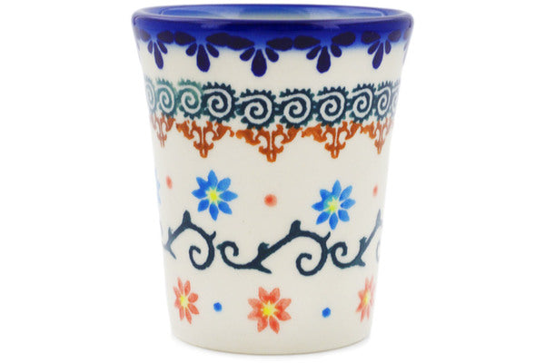 Polish Pottery 5 oz Tumbler Sunflower Dance