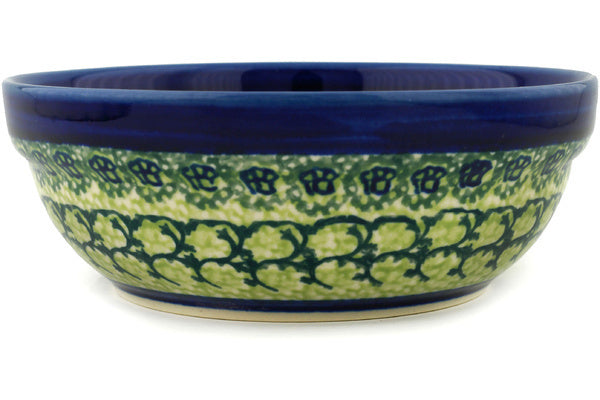 "Polish Pottery 7"" Bowl Emerald Forest"