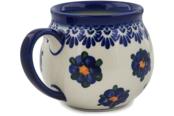 Polish Pottery 12 oz Bubble Mug Daisy Charm UNIKAT