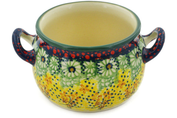Polish Pottery 13 oz Bouillon Cup Sunshine Grotto UNIKAT
