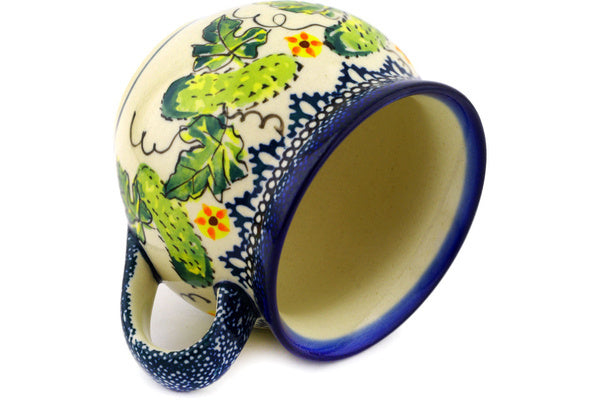 Polish Pottery 12 oz Bubble Mug Cucumber Patch
