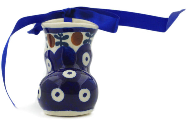 Polish Pottery 3 oz Boot Ornament Mosquito