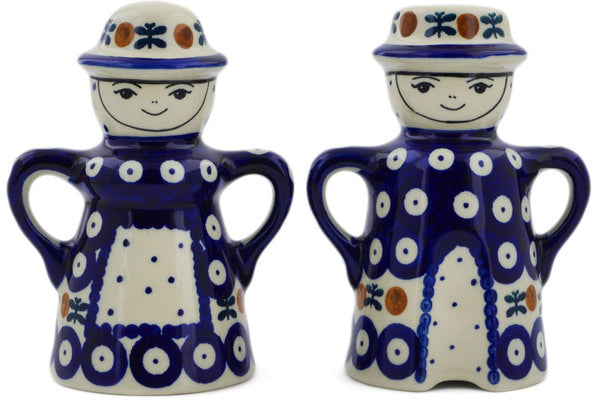 "Polish Pottery 5"" Salt and Pepper Set Mosquito"