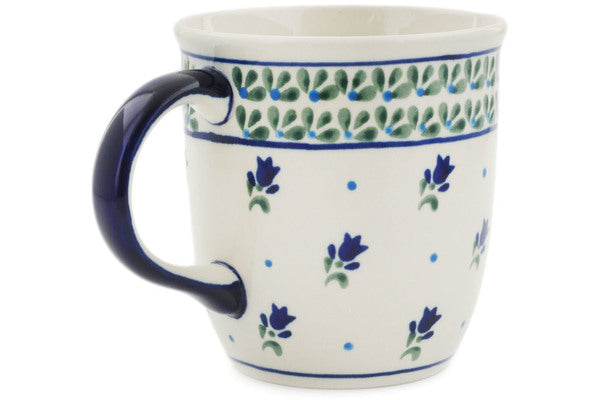 Polish Pottery 12 oz Mug Violet Tulips