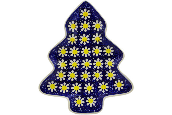 "Polish Pottery 9"" Tray Daisy"