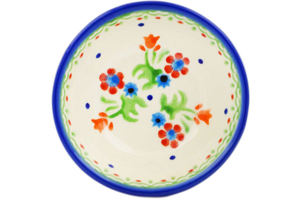 "Polish Pottery 3"" Bowl Spring Flowers"