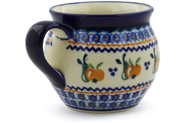 Polish Pottery 10 oz Bubble Mug Apple Pears