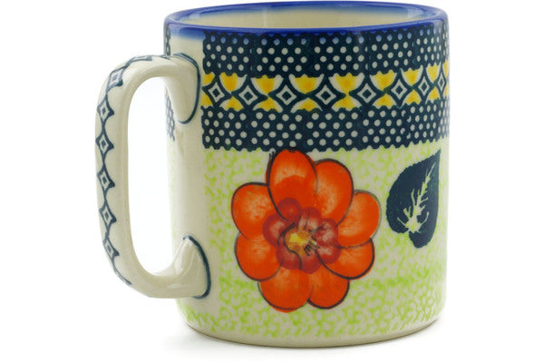 Polish Pottery 12 oz Mug Summer Poppies UNIKAT