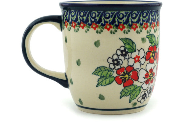Polish Pottery 12 oz Mug Flower Heaven UNIKAT