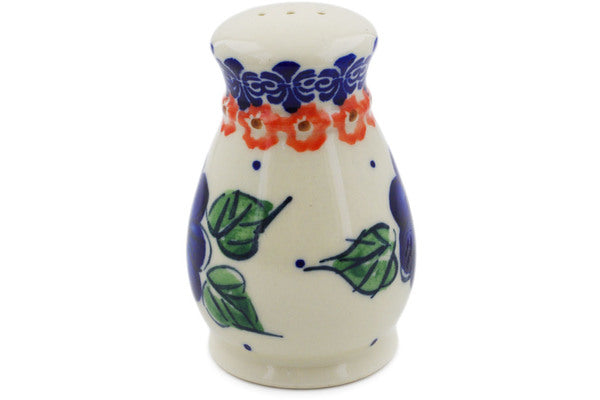 "Polish Pottery 3"" Pepper Shaker Greek Poppies"