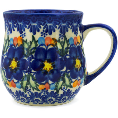 Polish Pottery 13 oz Mug Lightbug Garden UNIKAT