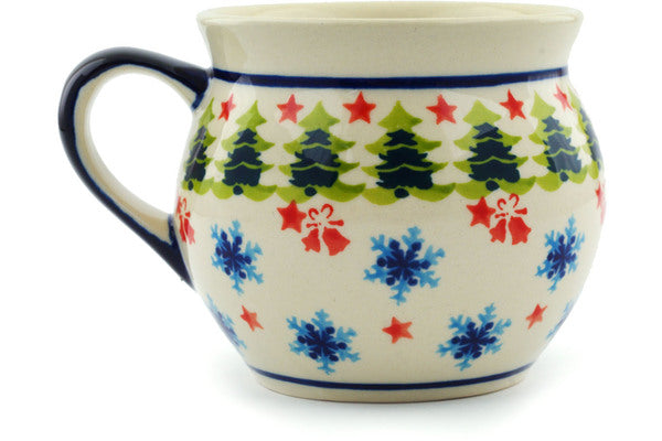 Polish Pottery 12 oz Bubble Mug Winter Land