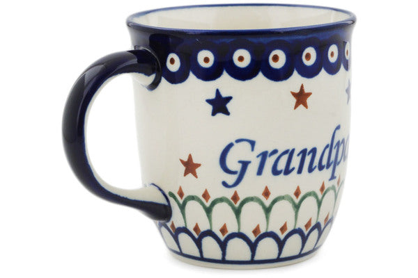 Polish Pottery 12 oz Mug Dziadek-grandpa