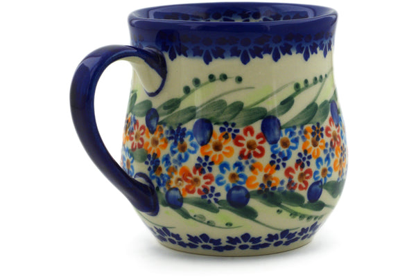 Polish Pottery 13 oz Mug Starburst Garland UNIKAT