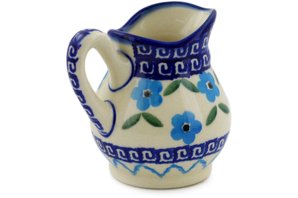 Polish Pottery 4 oz Creamer Greek Daisies