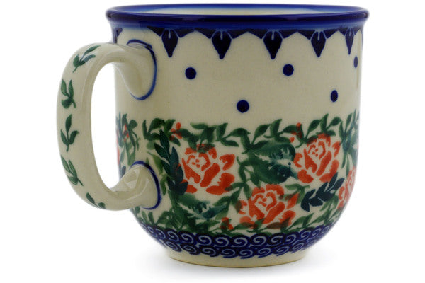 Polish Pottery 10 oz Mug Rose Garden