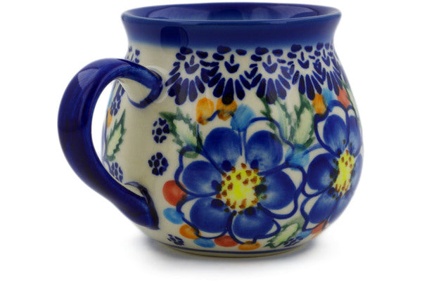 Polish Pottery 10 oz Bubble Mug Lightbug Garden UNIKAT