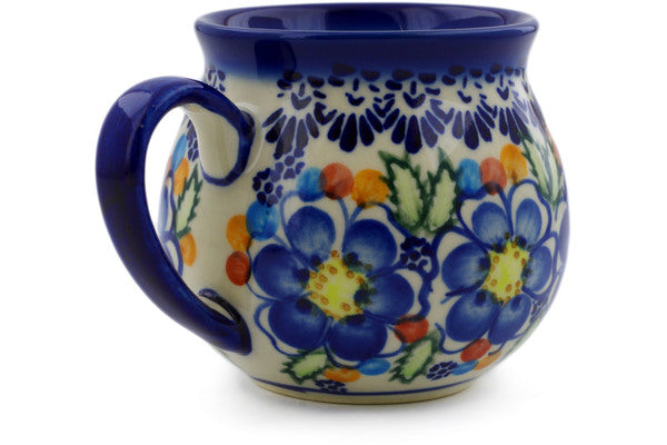 Polish Pottery 12 oz Bubble Mug Lightbug Garden UNIKAT