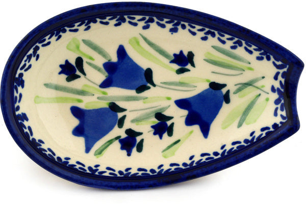 "Polish Pottery 5"" Spoon Rest Tulip Fields UNIKAT"