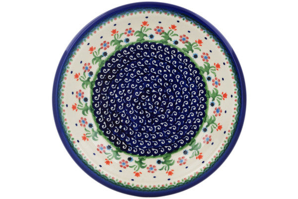 "Polish Pottery 9"" Pasta Bowl Spring Flowers"