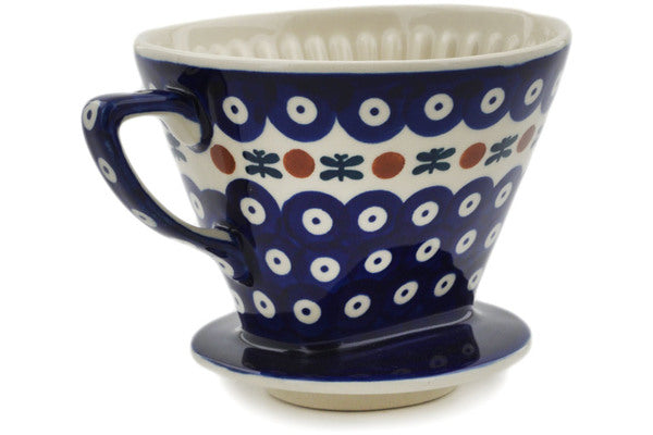 "Polish Pottery 0"" Coffee Filter Holder Mosquito"