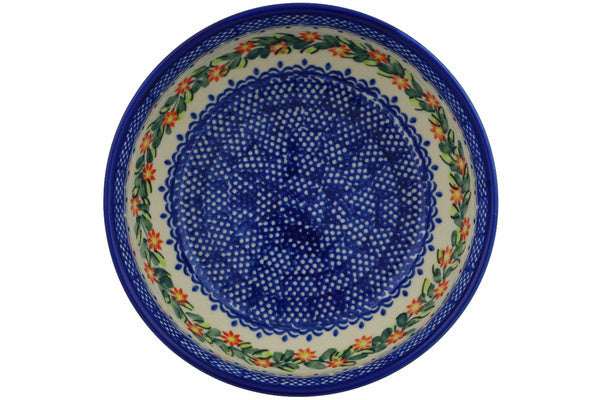 "Polish Pottery 7"" Bowl Elegant Garland"