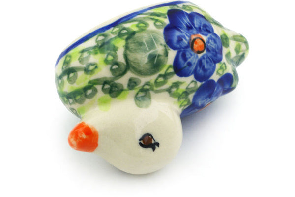 "Polish Pottery 4"" Duck Figurine Brilliant Butterfly Popp UNIKAT"