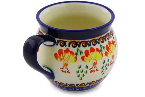 Polish Pottery 12 oz Bubble Mug Blooming Red