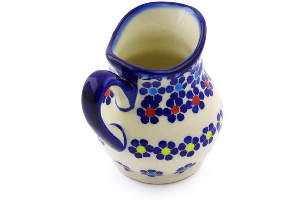 Polish Pottery 4 oz Creamer Pansy Plenty