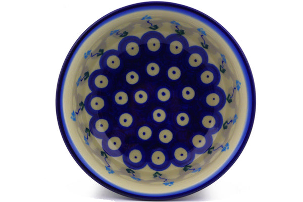 "Polish Pottery 5"" Bowl Floral Peacock"
