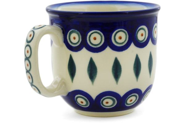 Polish Pottery 10 oz Mug Peacock